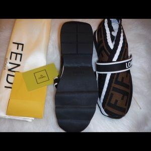 00f0429be50 Fendi Shoes - Fendi Rockoko FF Knit Sneakers